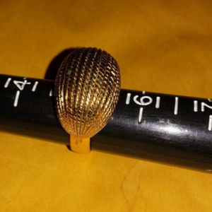 vintage SIZE 5 GOLD TONE MONET RING